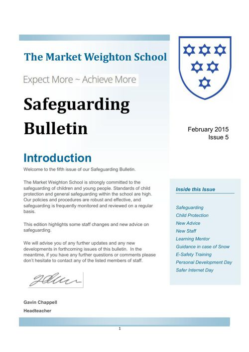 Safeguarding Bulletin Issue 5