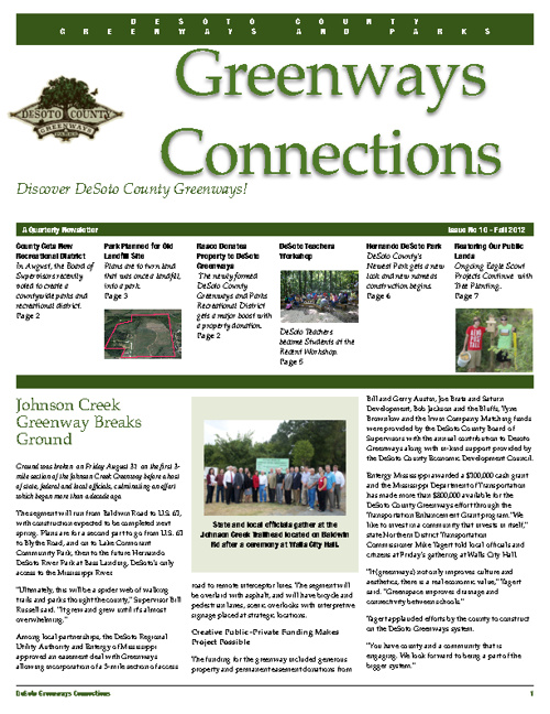 DeSoto Connections Fall 2012 Newsletter