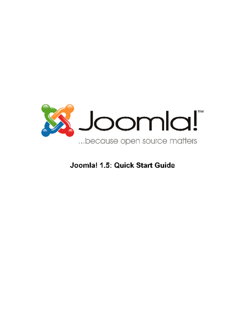 Joomla 1.5 Quick start  guide