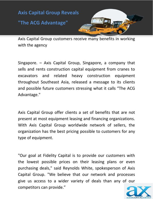 Axis Capital Group Reveals