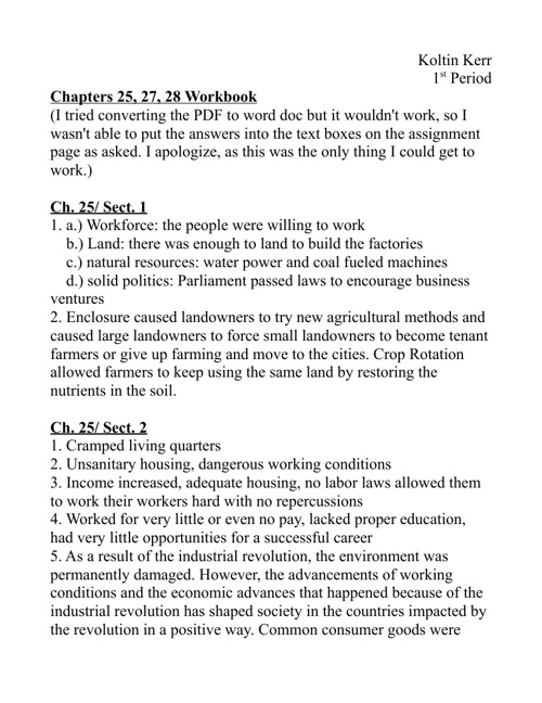 Unit 9 Workbook