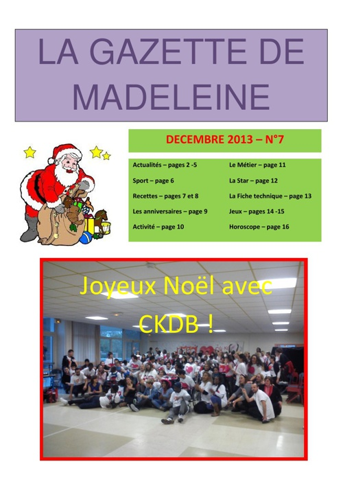 La gazette de Madeleine n°7