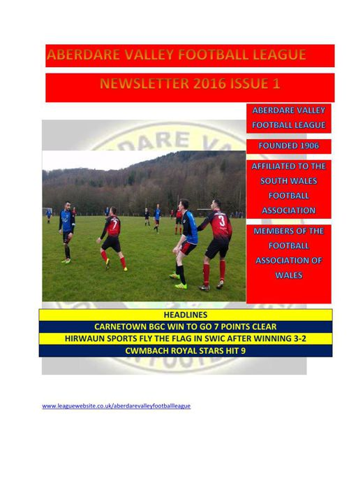 league newsletter issue 1