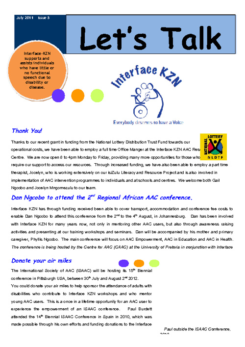 Interface KZN Newsletter July 2011