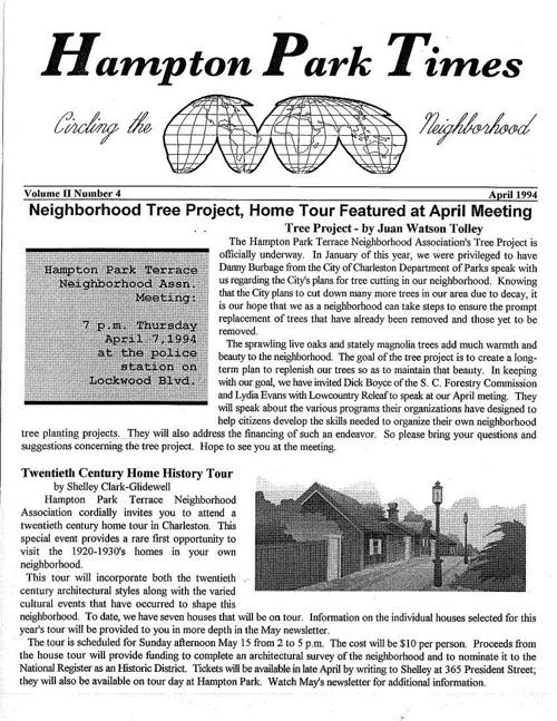 HPT Newsletter April 1994