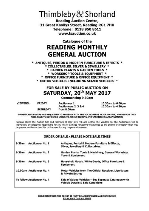 2017-05-20 General Auction Catalogue
