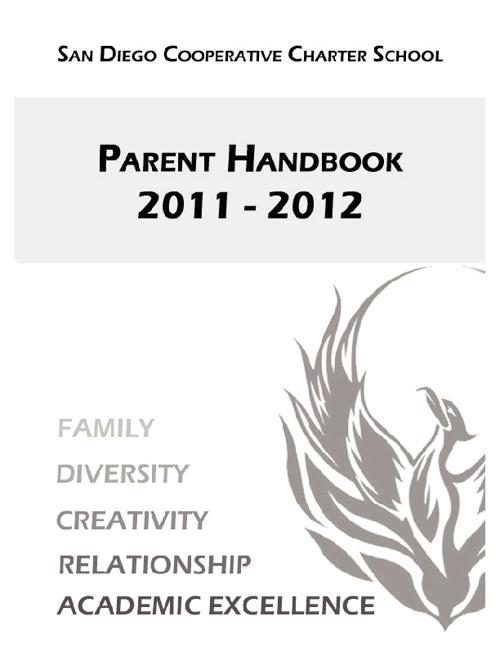 San Diego Cooperative Charter School Parent Handbook 2011-2012