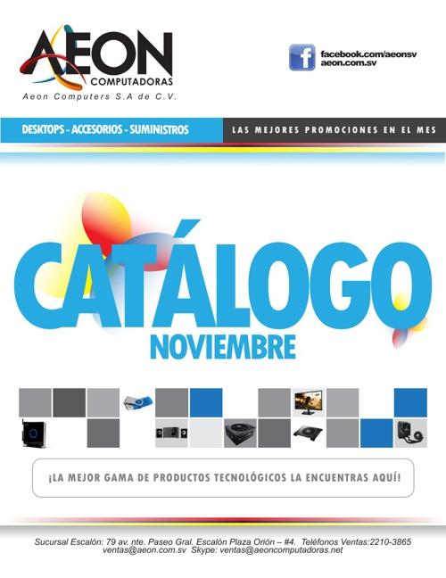 AEON Computadoras - Catálogo Noviembre 2013