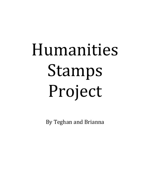 Humanities Stamps Project