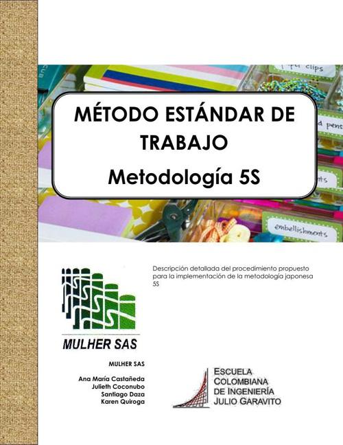 MÉTODO ESTÁNDAR DE TRABAJO 5ss