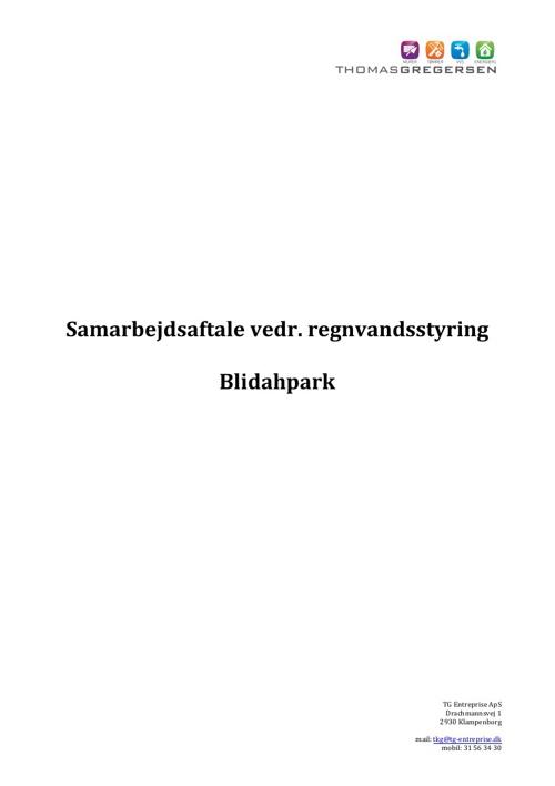 Blidahpark - Samarbejdsaftale