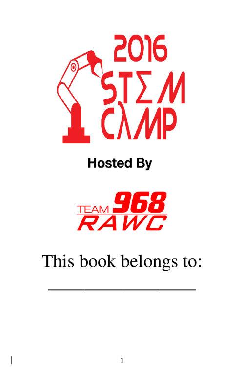 Stem Camp Booklet