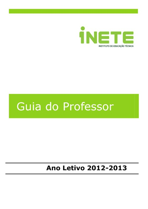 Guia do Professor 2012-2013