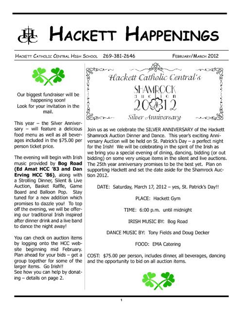 Hackett Happenings February/March