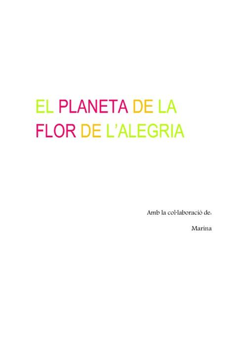El planeta de la flor de l'alegria
