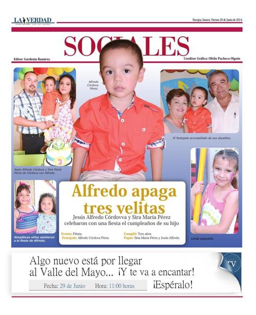 SOCIALES  20 JUNIO 2014