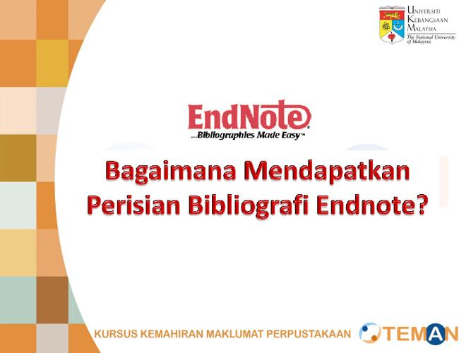 Panduan Instalasi perisian bibliografi Endnotes