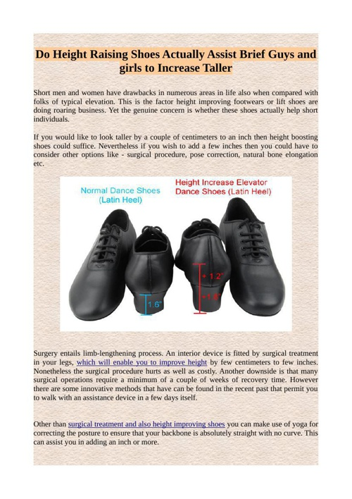 Do Height Raising Shoes Actually Assist Brief Guys and girls to
