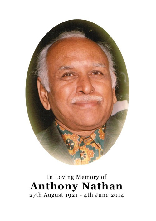 12 Page Order of Service for Anthony Nathan
