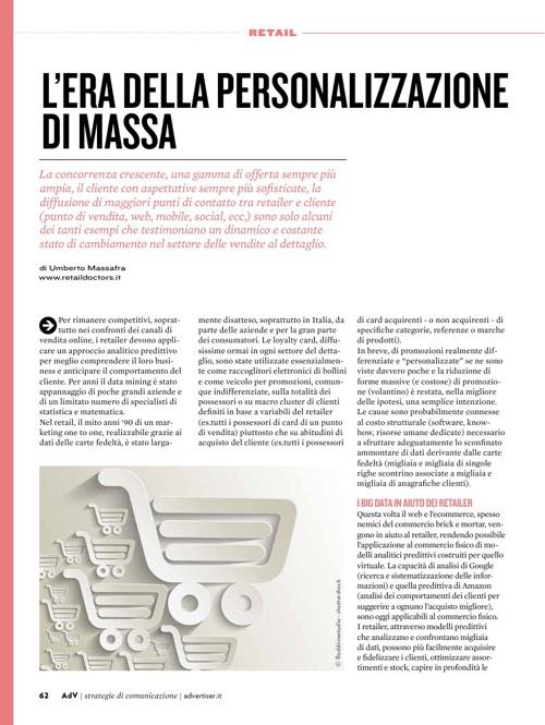 L'era della personalizzazione di massa