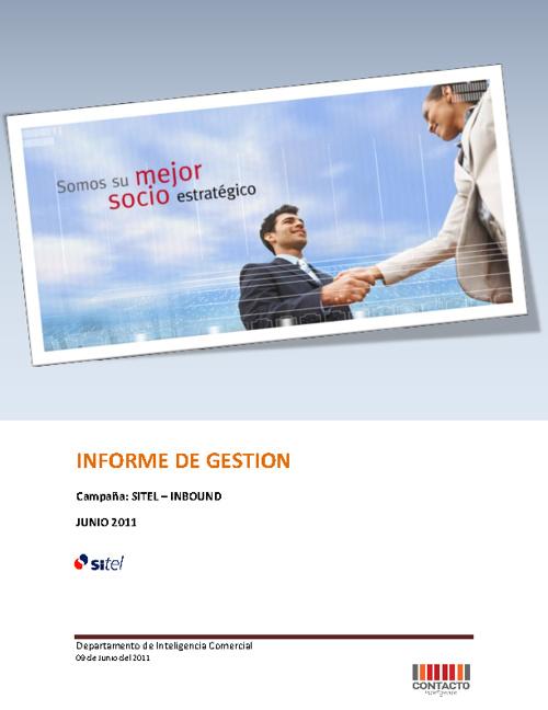 SITEL - INFORME DE GESTION JULIO 2011