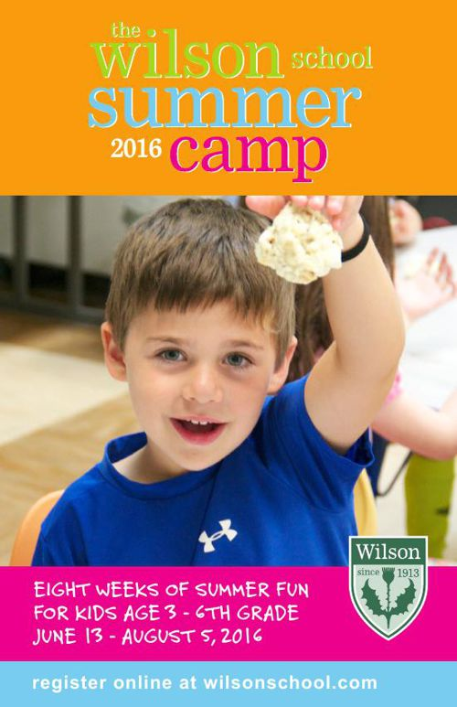2016 Wilson School Summer Camp Brochure