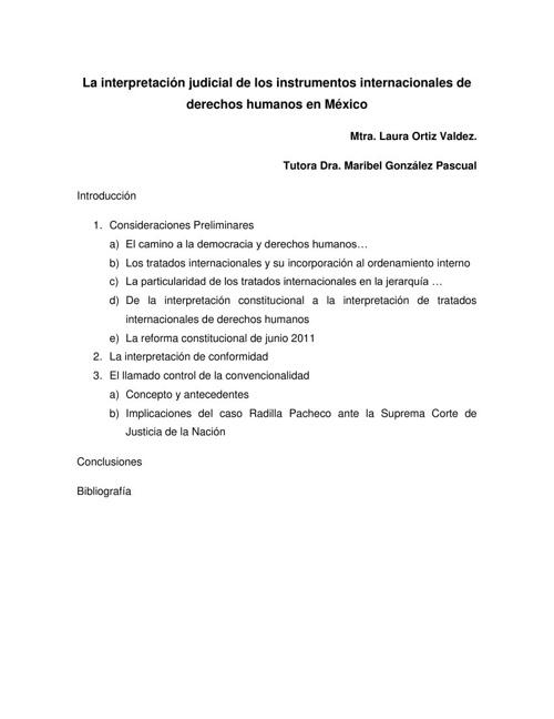 Intrpretación Judicial de Instrumentos Internacionales
