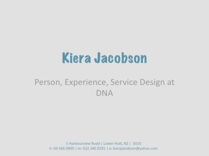 DNA Service Design
