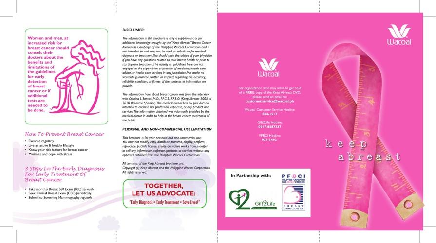 Keep Abreast Brochure