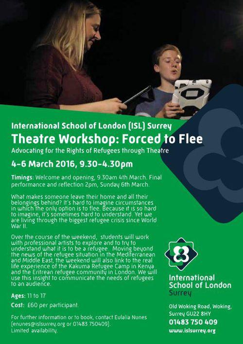 Theatre Workshop: ISL Surrey Forced to Flee
