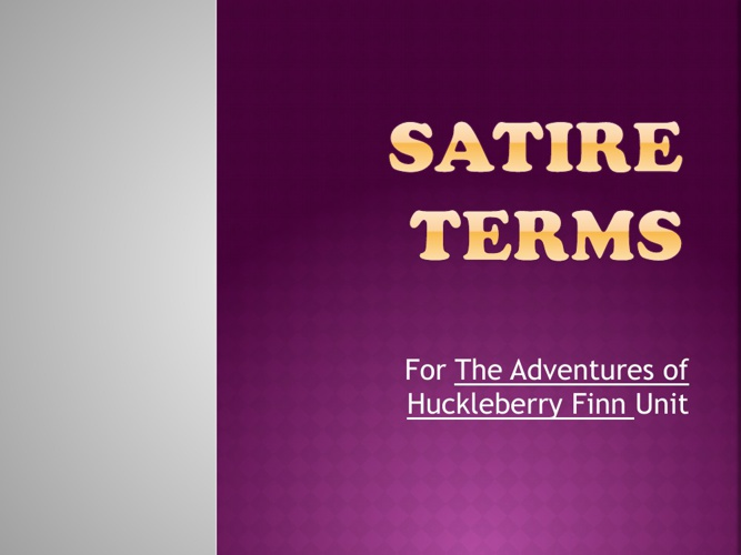 Book of Satire Terms