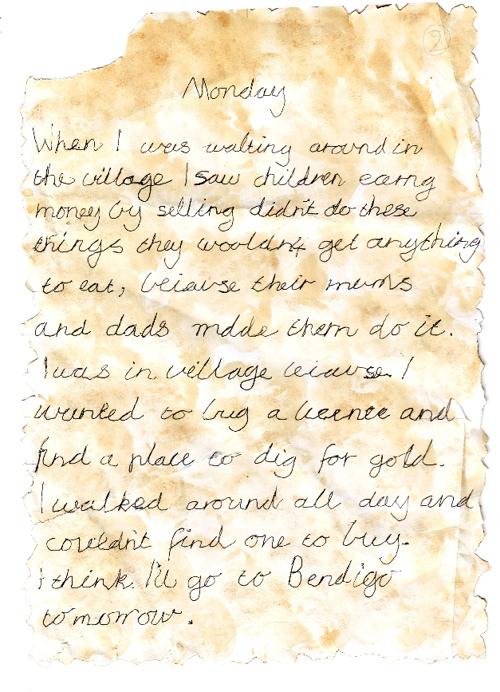 Gold Rush Diary Grade 3
