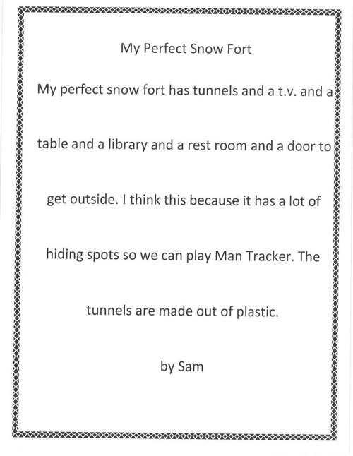 Imaginary Snow Forts