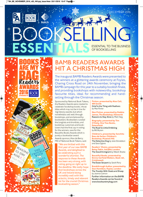 Bookselling Essentials - November 2016