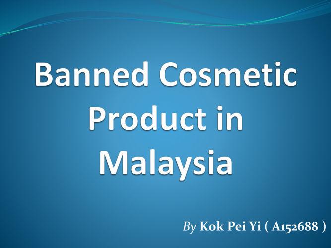 Regulation of Cosmetics