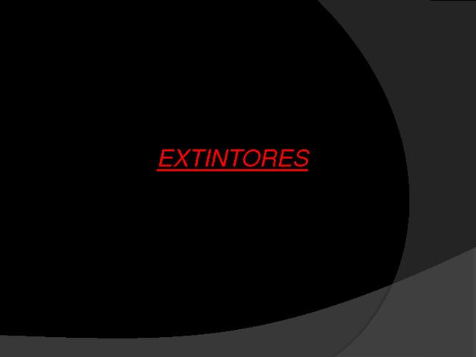 Extintores y Radiadores