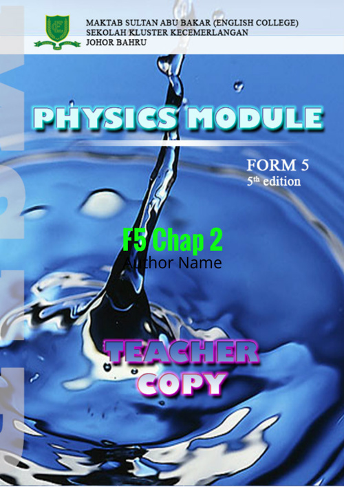 F5 CHAPTER 2 ELECTRICITY