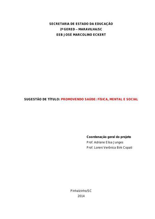 Copy of Apresentação do projeto Qualidade de Vida