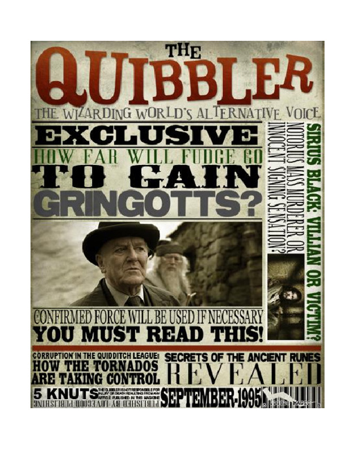 The Quibbler news