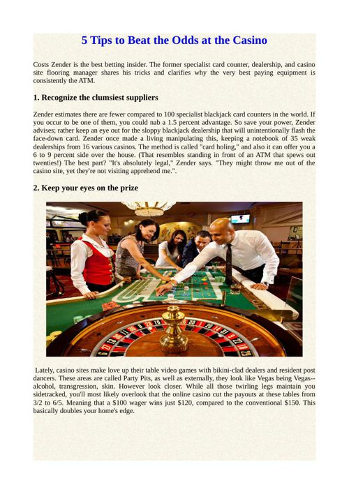 5 Tips to Beat the Odds at the Casino