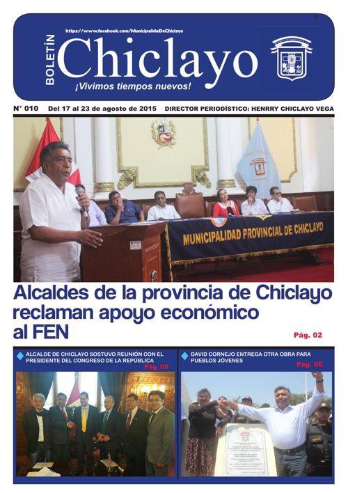 """Boletín """"Chiclayo"""" - N° 010"""