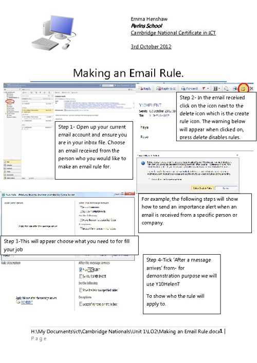 Email Rule