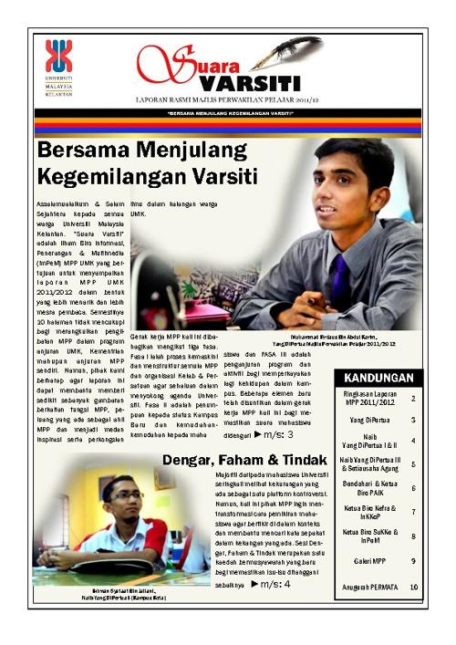 Bulletin Suara Varsiti: Laporan Rasmi MPP UMK 2011