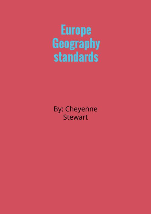European Geography Standards