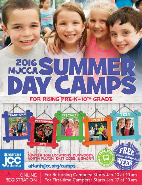 MJCCA | Summer Day Camps Catalog 2016