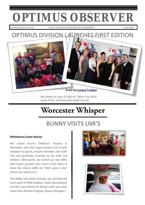 Optimus Observer - May 2014