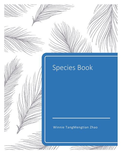 winnie tang species book delivery