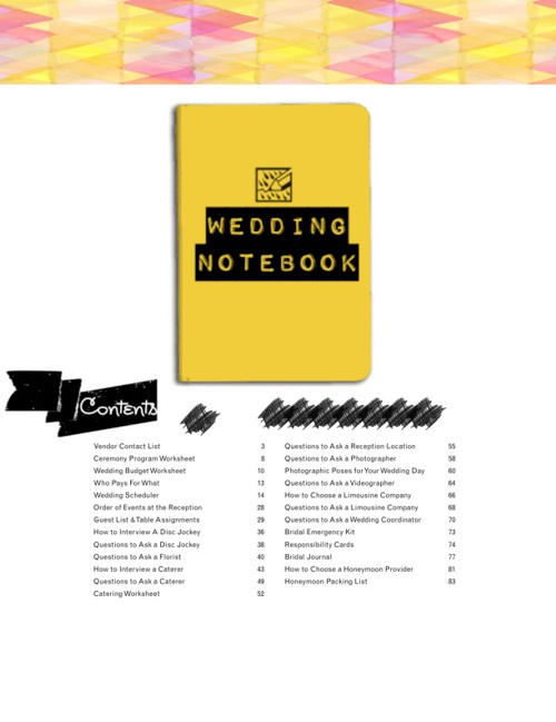 Your Wedding Notebook