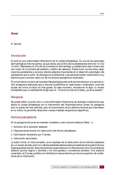Pediatría-Dermatología-Acné
