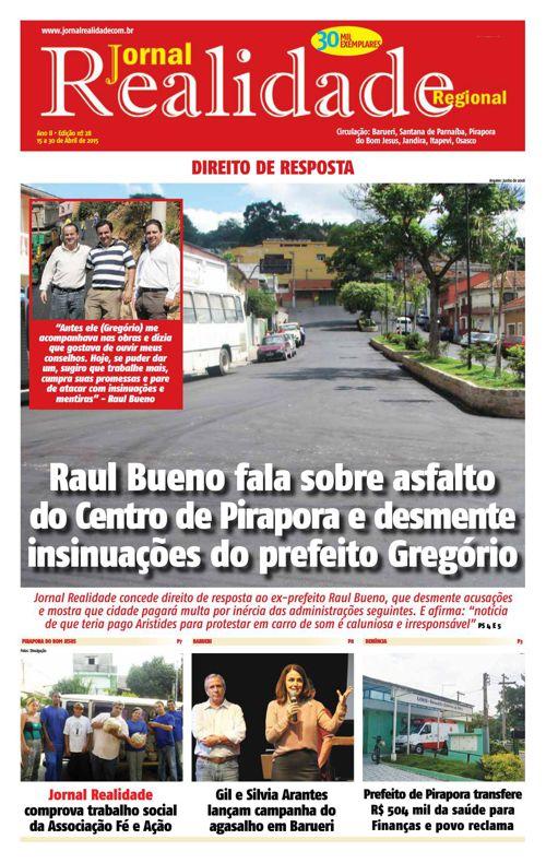 Jornal Realidade edição Abril/2015